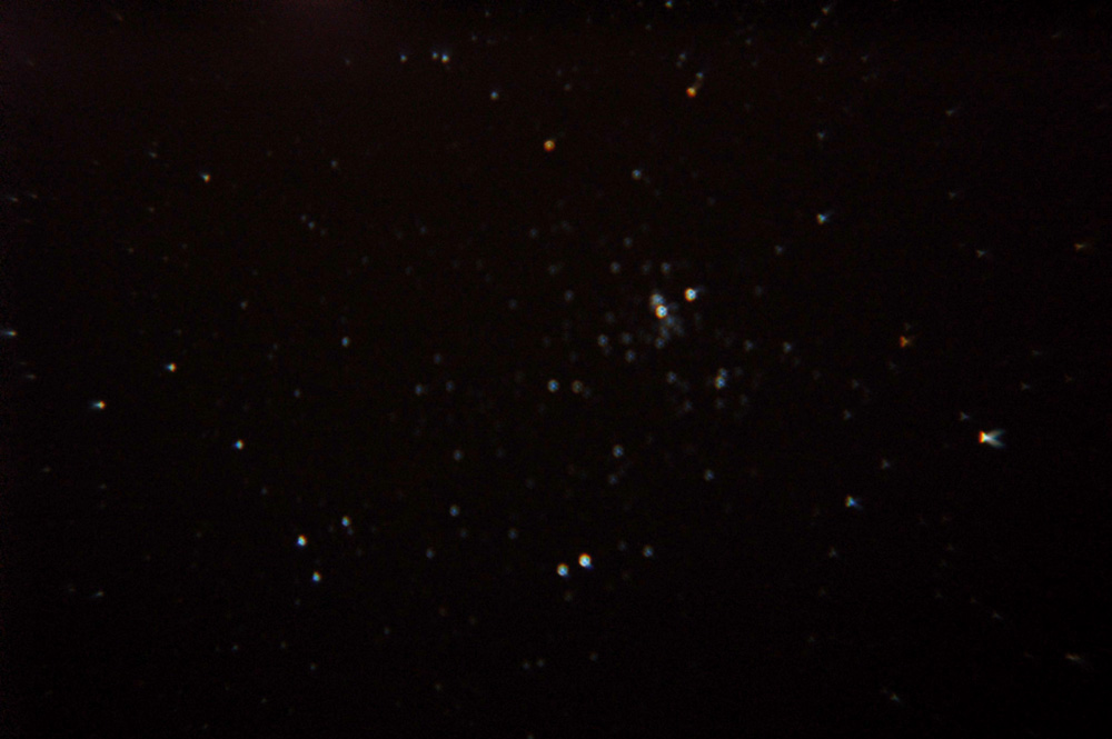 Star Cluster (perhaps Double Cluster near Perseus?) 8/9/07